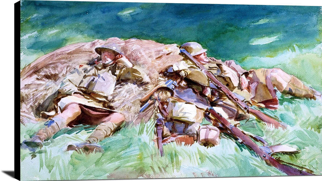 Highlanders Resting At The Front Painting John Singer Sargent Canvas Art