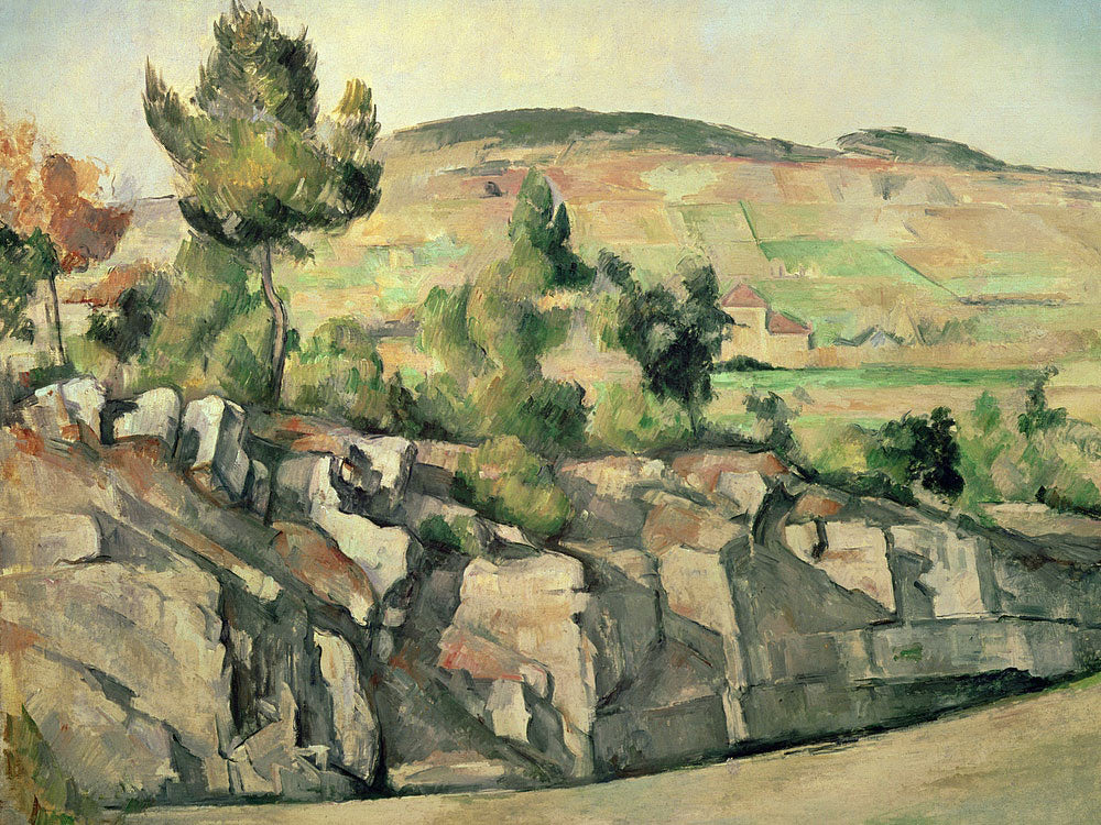 Hillside In Provence By Paul Cezanne