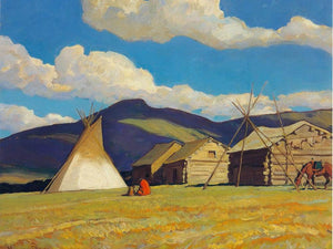 Home Of The Halfbreed By Maynard Dixon