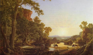 Hooker And Company Journeying Through Wilderness By Fredric Edwin Church