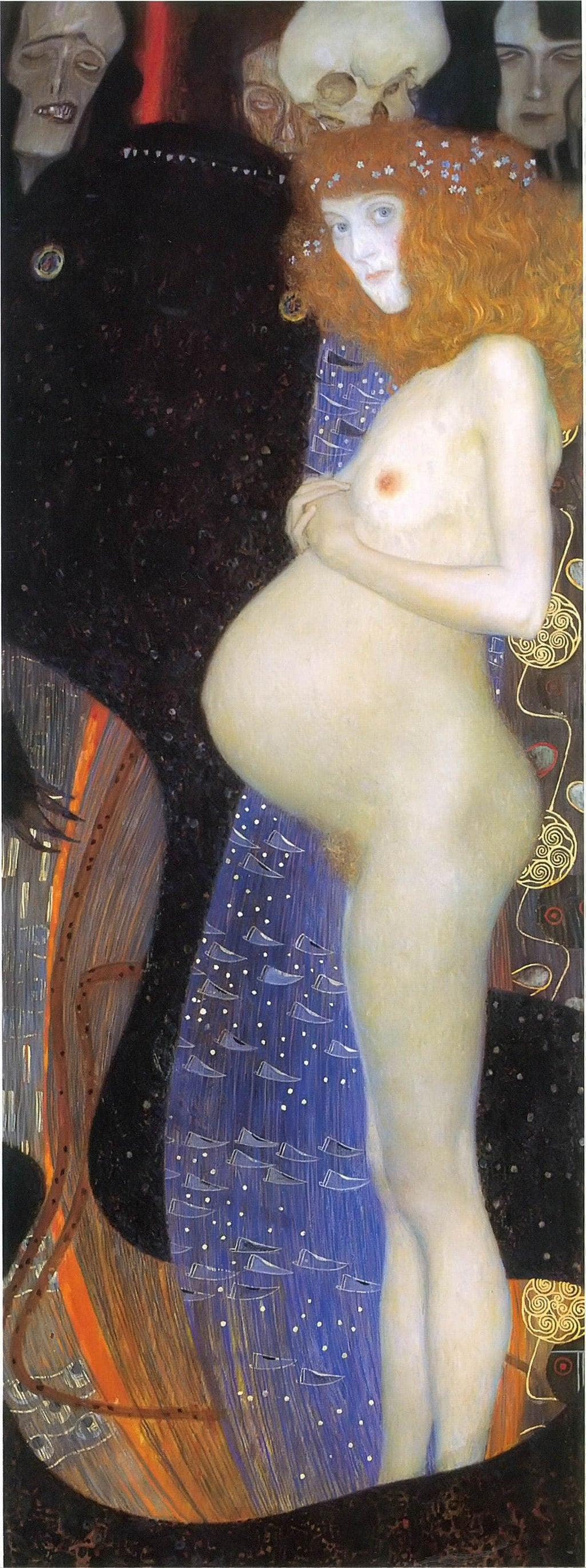 Hope I by Gustav Klimt