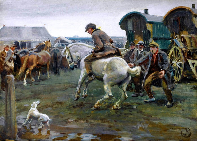 Horse Fair Painting Sir Alfred James Munnings Canvas Art