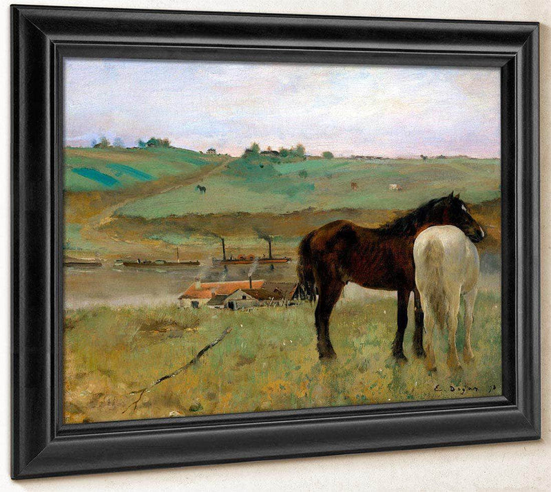 Horse In A Meadow By Edgar Degas