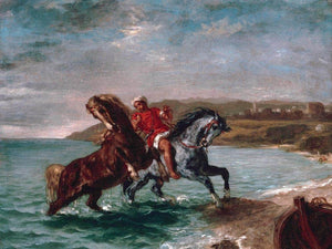 Horses Coming Out Of The Sea By Eugene Delacroix