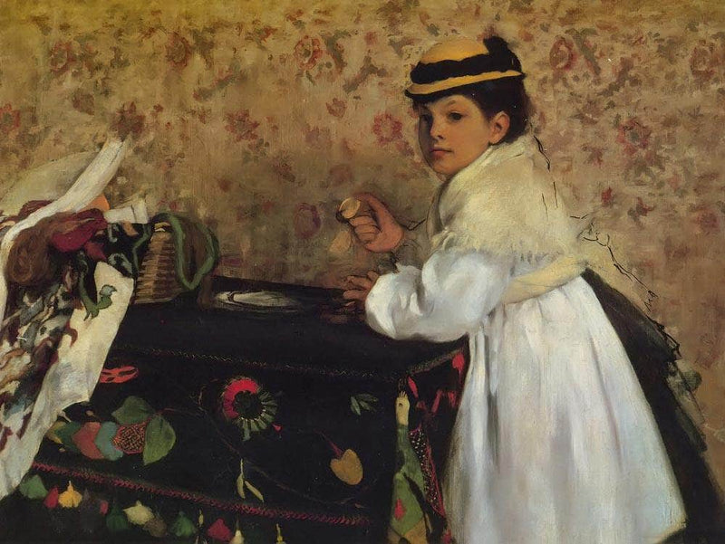 Hortense Valpincon As A Child By Edgar Degas