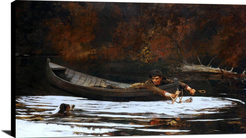 Hound And Hunter Painting Winslow Homer Canvas Art