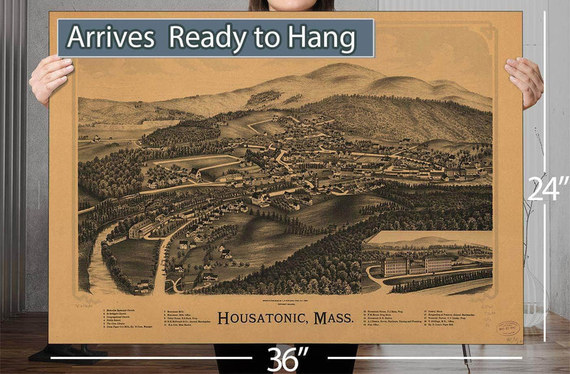 Housatonic Mass Vintage Map