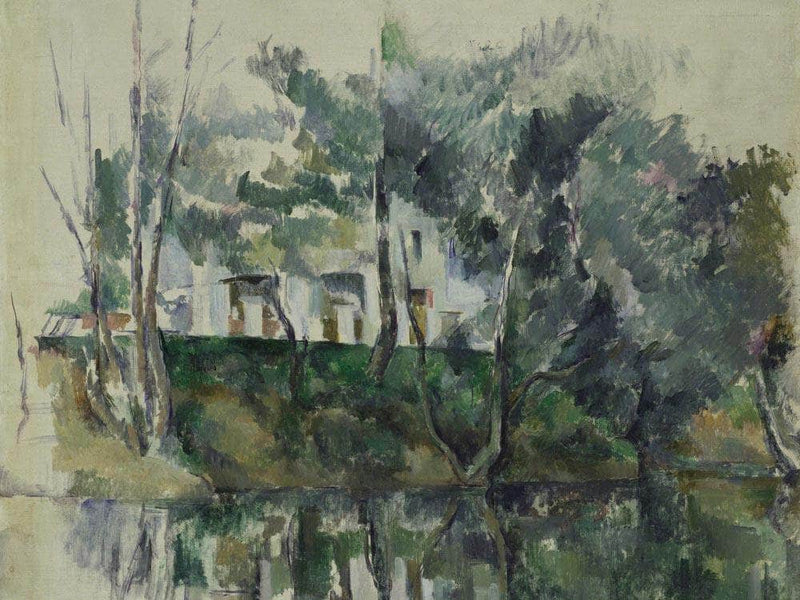 House On River By Cezanne Paul