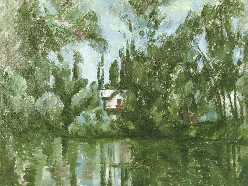 House On The Banks Of The Marne By Paul Cezanne