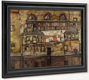 House Wall On The River By Egon Schiele