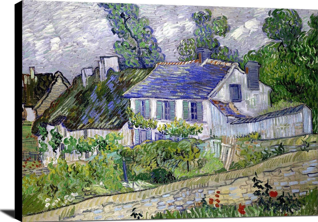 Houses At Auvers Painting Vincent Van Gogh Canvas Art