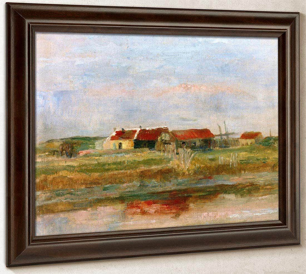 Houses In The Dunes By James Ensor