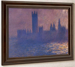 Houses Of Parliament Effect Of Sunlight By Monet Claude