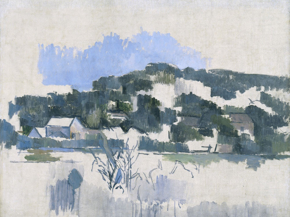 Houses On The Hill By Paul Cezanne