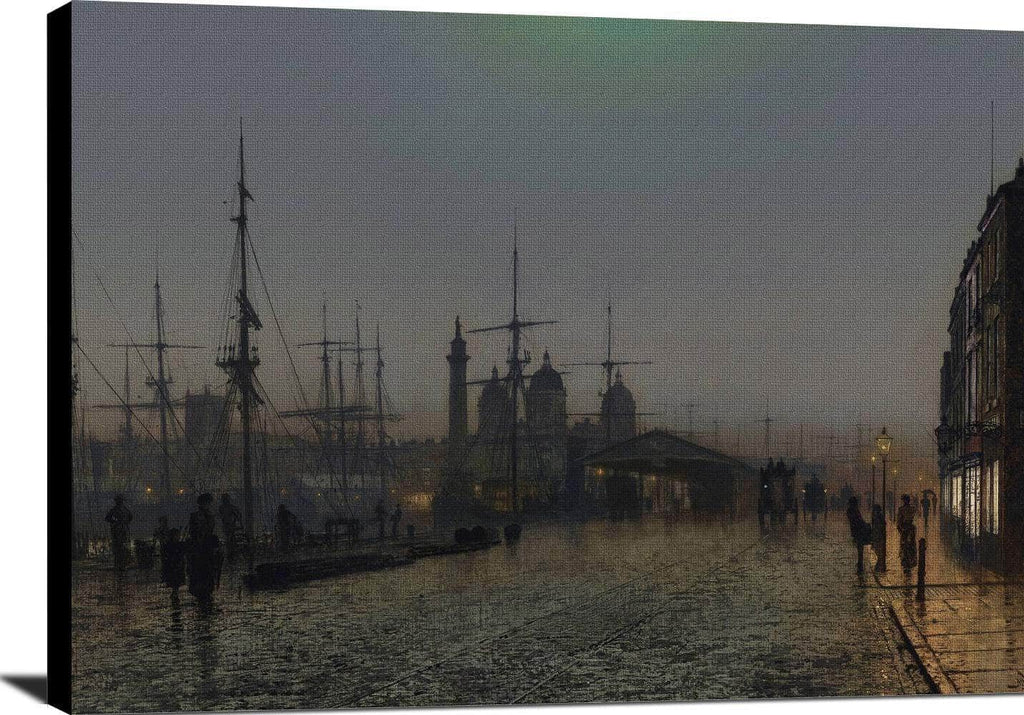 Hull Docks At Night Painting John Atkinson Grimshaw Canvas Art