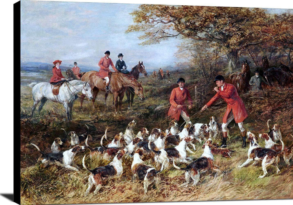 Hunters And Hounds Painting Heywood Hardy Canvas Art
