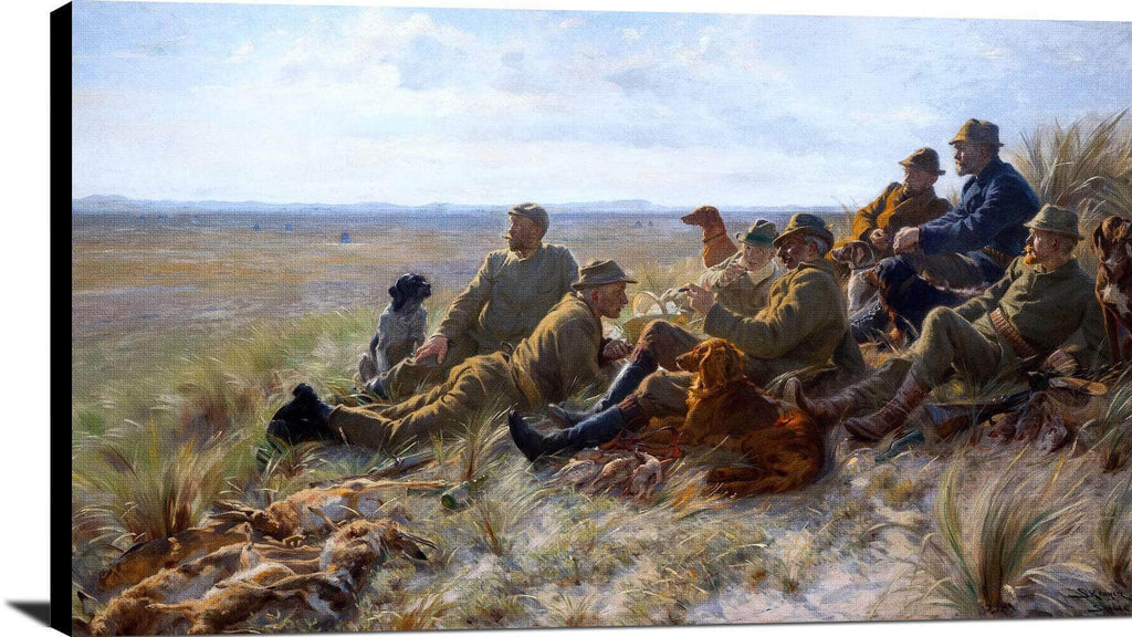 Hunters Of Skagen Painting Peder Severin Kroyer Canvas Art