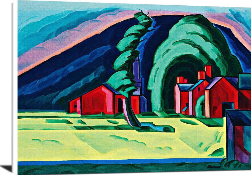 Illusion Of A Prairie New Jersey Painting Oscar Bluemner Canvas Art