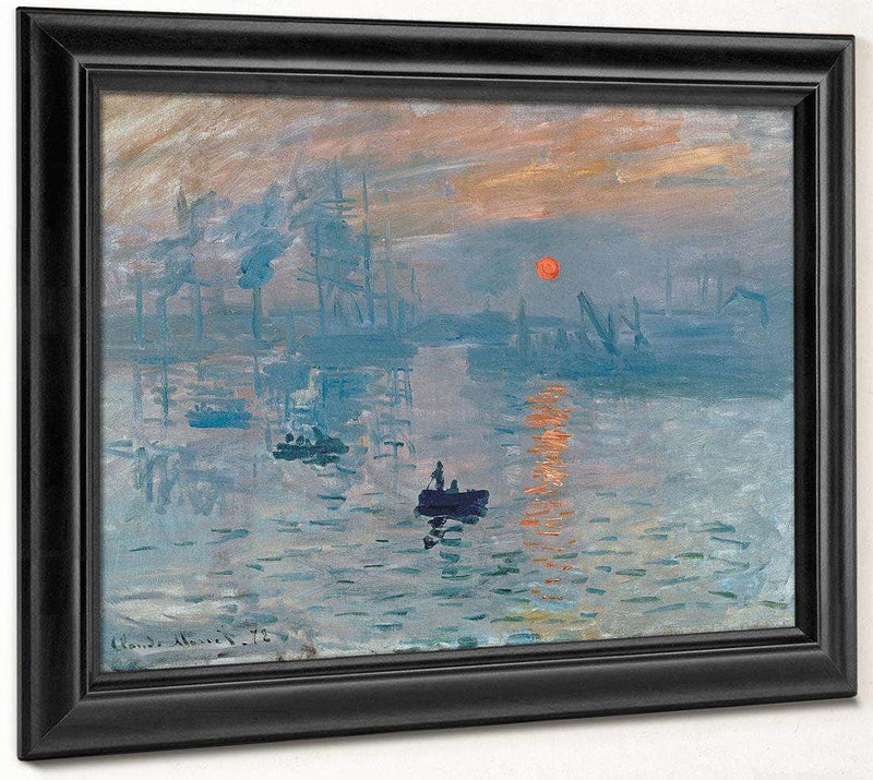 Impression Sunrise 1872 Impressionism 48X63Cm By Claude Monet