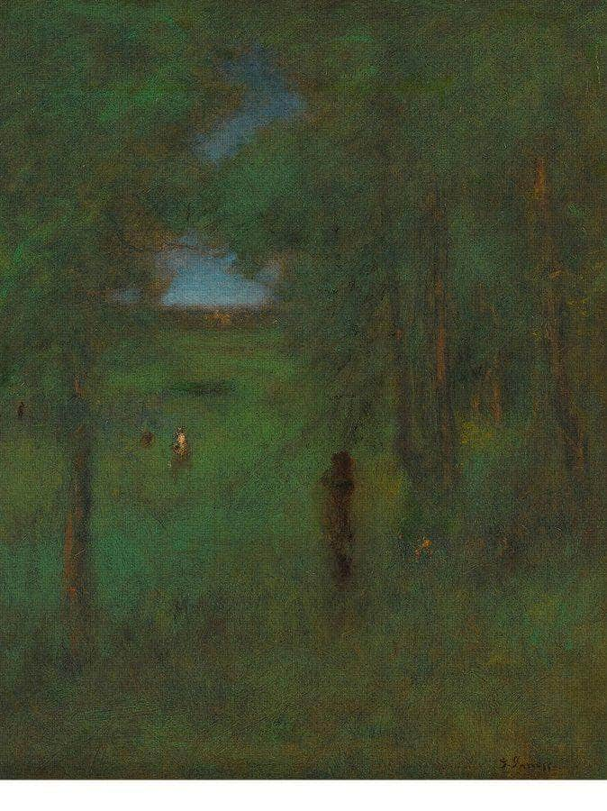 In A Shady Nook By George Inness