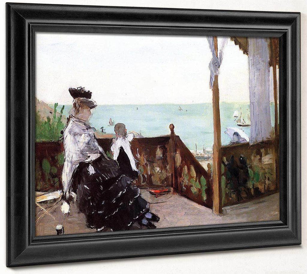 In A Villa At The Seaside 1874 Oil On Canvas   Toledo Museum Of Art Oh By Berthe Morisot