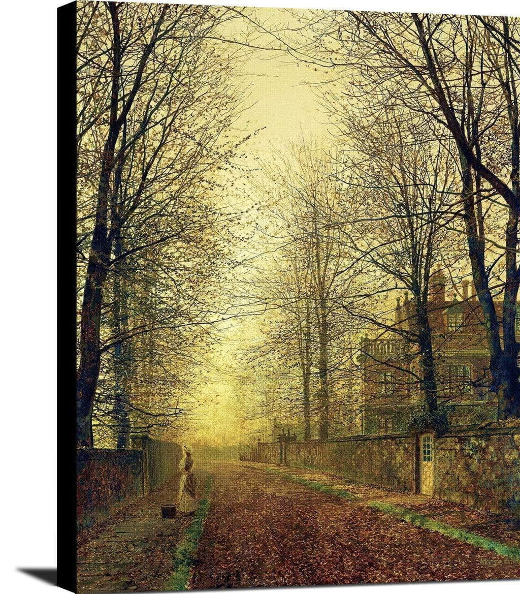 In Autumn's Golden Glow Painting John Atkinson Grimshaw Canvas Art