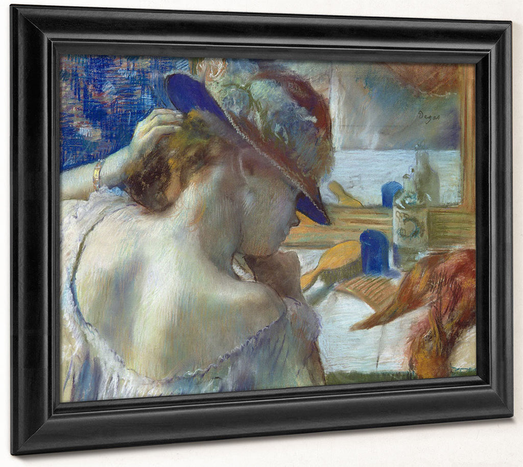 In Front Of The Mirror By Edgar Degas