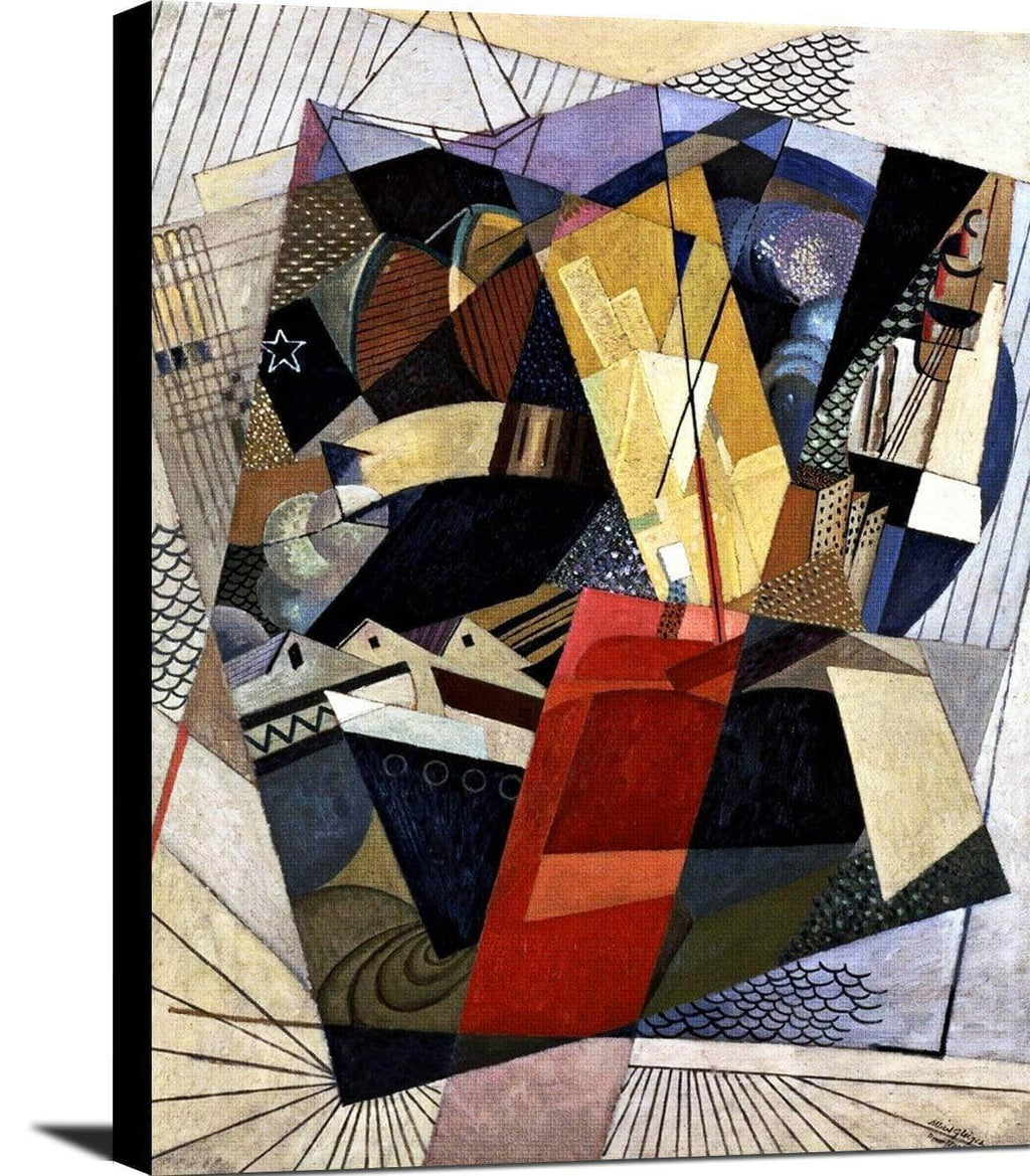 In Port Dans Le Port Painting Albert Gleizes Canvas Art