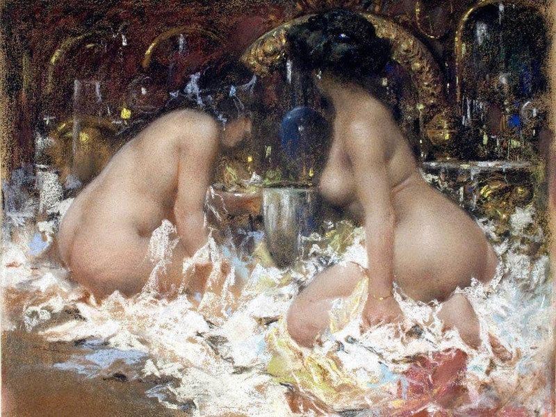 In The Boudoir By Antonio Mancini