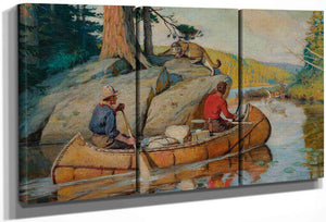 In The Canoe By Philip R. By Goodwin