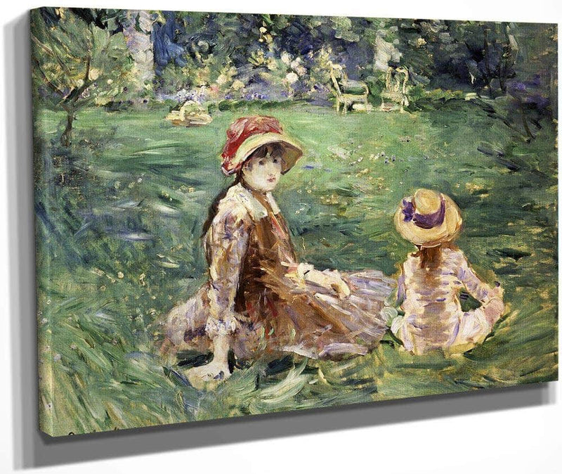 In The Garden At Maurecourt 1884 By Berthe Morisot