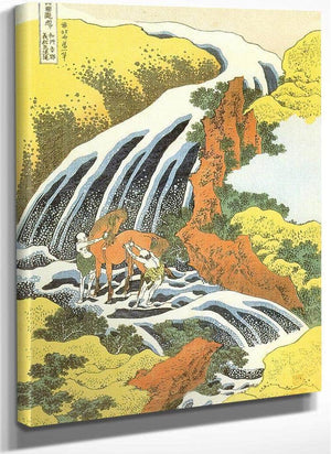 In The Horse Washing Waterfall By Hokusai