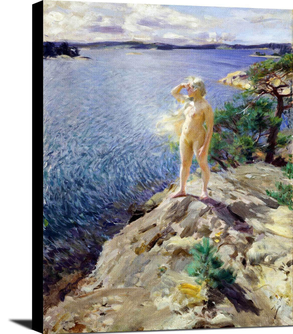 In The Skerries Painting Anders Zorn Canvas Art