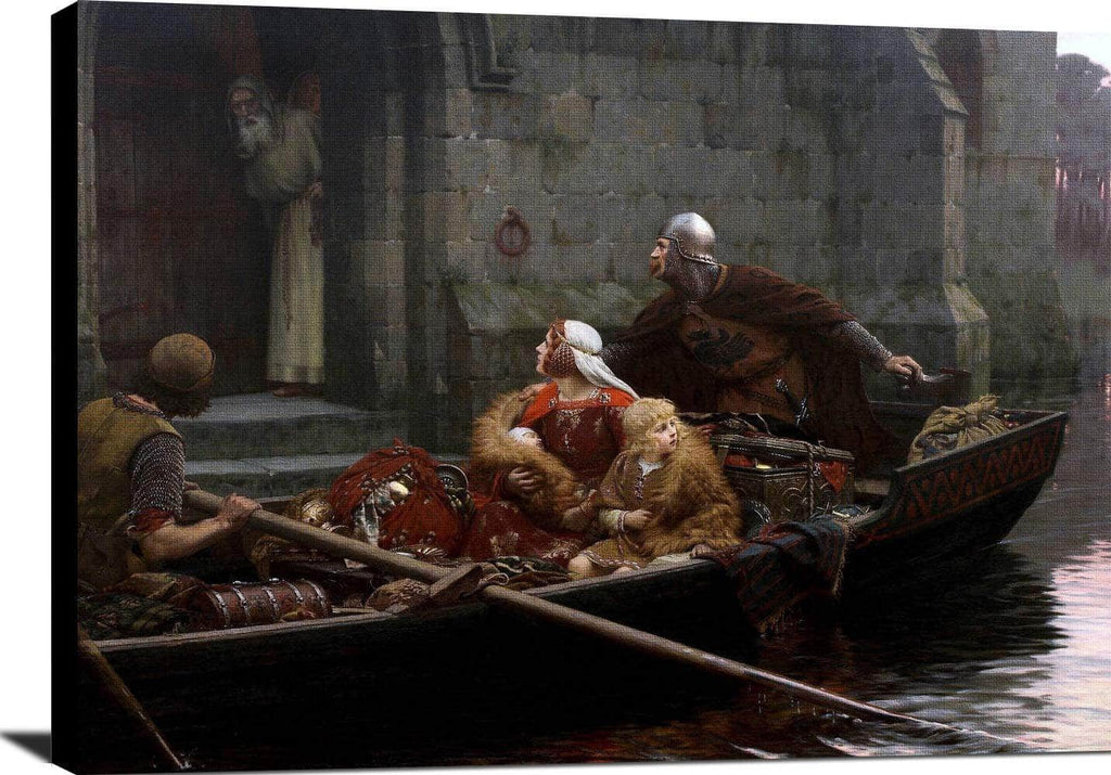 In The Time Of Peril Painting Edmund Blair Leighton Canvas Art