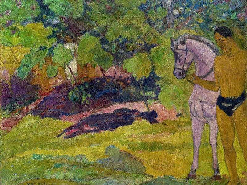 In The Vanilla Grove Man And Horse 1891 By Paul Gauguin