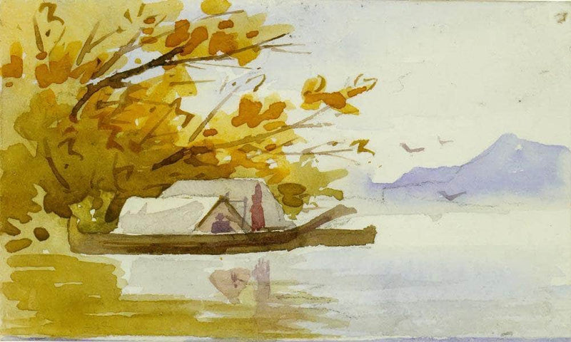 Indian Canoes By In By Harbour By I By Emily Carr