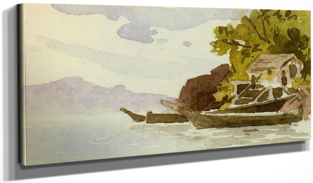 Indian Canoes By In By Harbour By Ii By Emily Carr