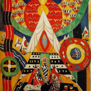 Indian Composition By Marsden Hartley