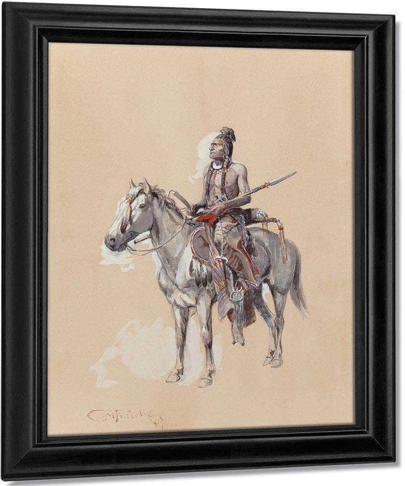 Indian On Horseback 1900 By Charles Marion Russell