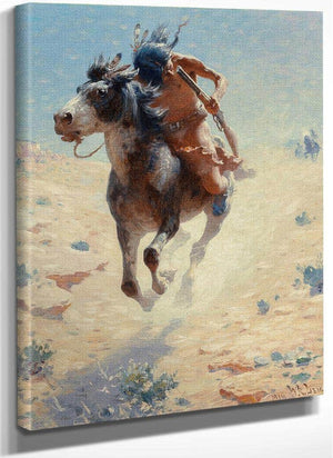 Indian Rider 1918 By Charles Marion Russell