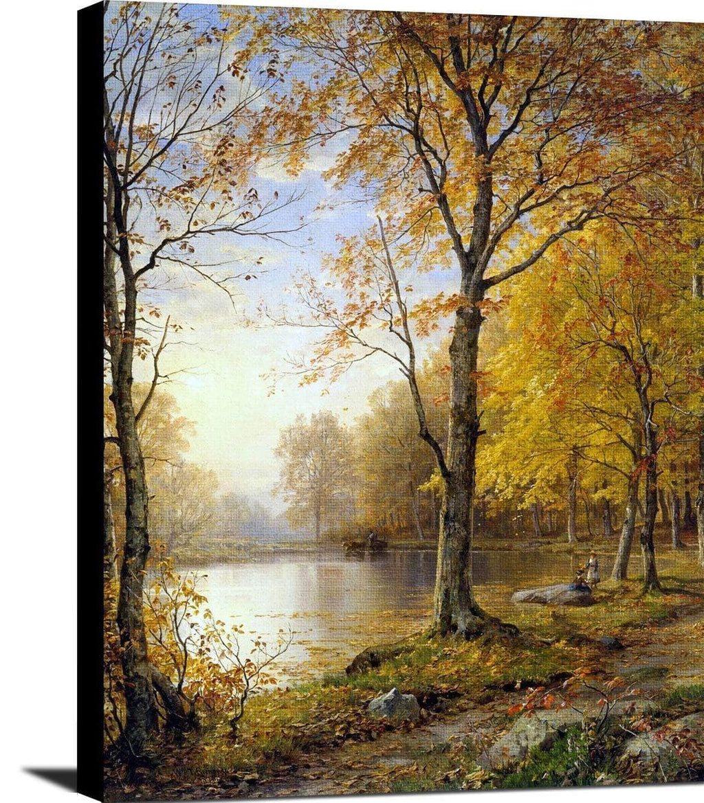 Indian Summer Painting William Trost Richards Canvas Art