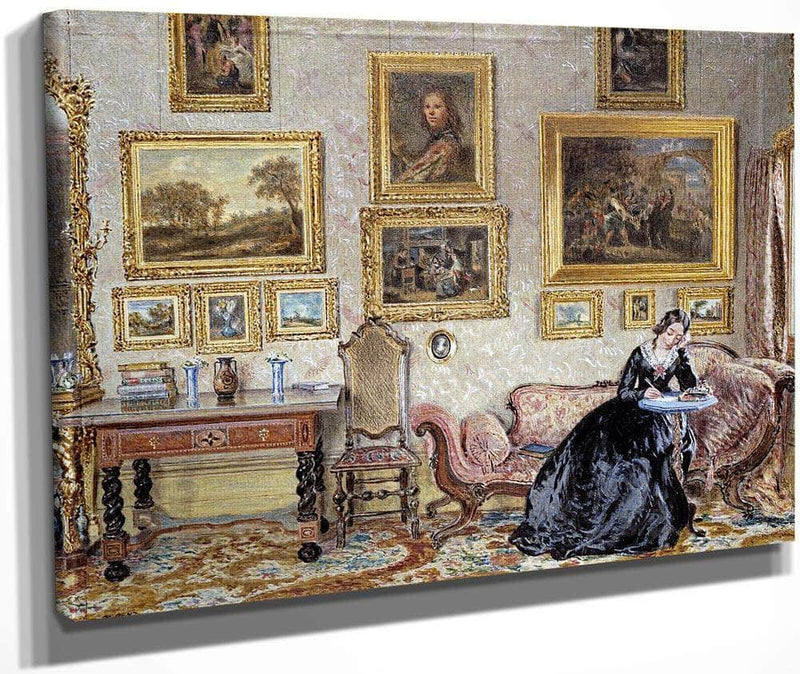 Interior Of A Drawing Room By William Henry Hunt