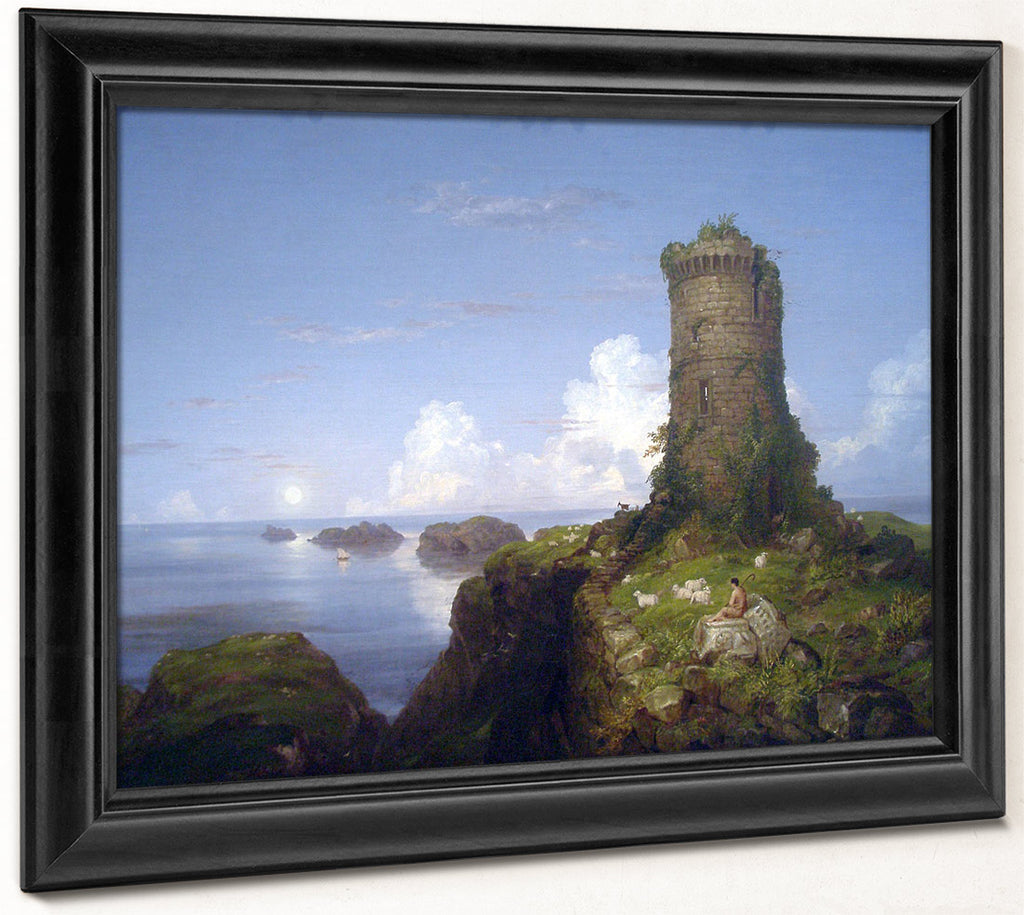 Italian Coast Scene With Ruined Tower 1838 By Thomas Cole By Thomas Cole