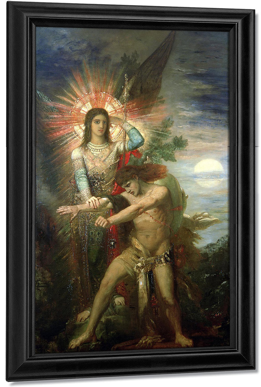 Jacob And The Angel 1878 By Gustave Moreau