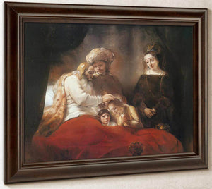 Jacob Blessing The Sons Of Joseph, 1656 By Rembrandt