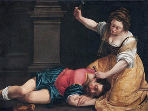 Jael And Sisera 1620 By Artemisia Gentileschi