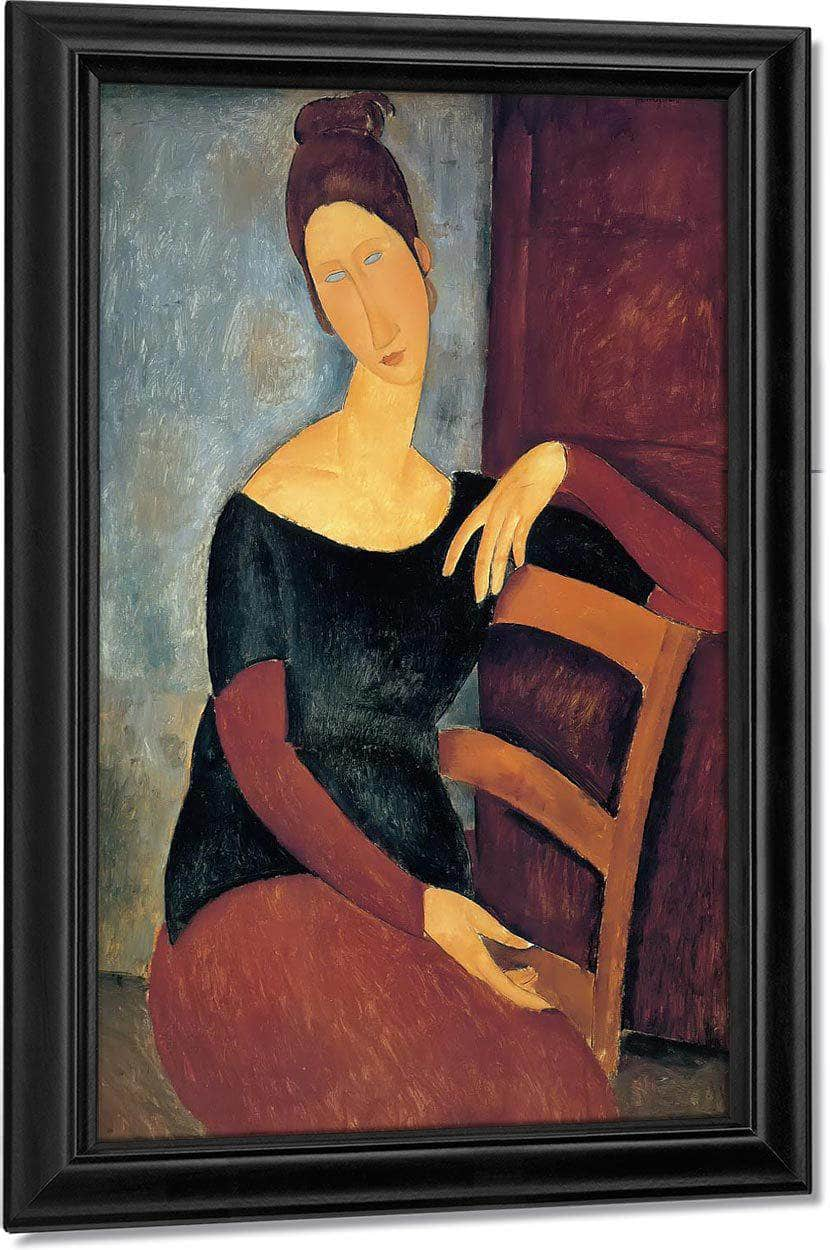 Jeanne Hebuterne The Artist's Wife 1918 By Amedeo Modigliani