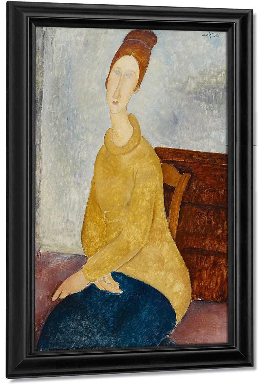 Jeanne Hebuterne With Yellow Sweater (Le Sweater Jaune) By Amedeo Modigliani