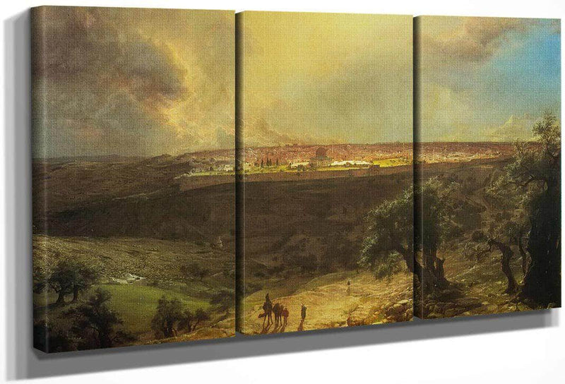 Jerusalem From The Mount Of Olives By Fredric Edwin Church