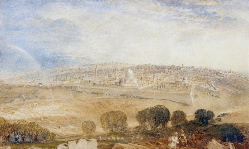 Jerusalem From The Mt. Of Olives By Joseph Mallord William Turner